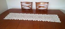 Vintage Style Eggshell Flowered Table Runner