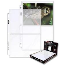 2 Boxes 200 BCW 2 Pocket Postcard Photo Coupon Storage Pages Holders