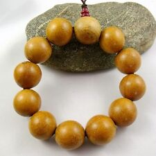 20mm  pear wood Beads Tibet Buddhism Amulet Bracelet