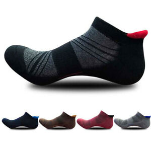 Mens Women Athletic Low Cut Ankle Tab Socks Cotton  Cushioned Breathable Running