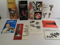 Vintage Asahi Pentax Camera Lens Binocular Literature Pamphlets 9 Different H9