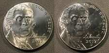 2017 P & D Jefferson Nickel Set of 1-P & 1-D Brilliant Uncirculated Roll Coin's