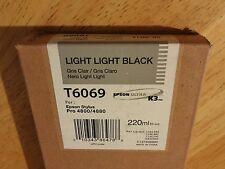 04-2013 GENUINE EPSON T6069 LIGHT LIGHT BLACK 220ml K3 INK STYLUS PRO 4800 4880