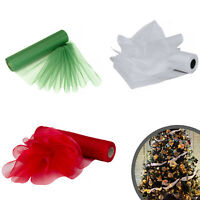 75m x 29cm Fabric Organza Roll for Xmas Chair Bows Christmas Tree Decorations