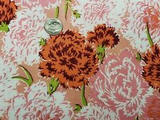 BEST Vintage Feedsack Quilt Fabric 40s Pink Red Carnations Flour Full Sack