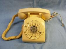 VINTAGE ITT OFF-WHITE / CREAM ROTARY DESK MODULAR PHONE, TESTED & WORKS WELL!
