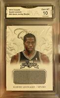 Rare 2012 Panini Kawhi Leonard Rookie Card Jersey Crusade Quest Gem Mint 10 MVP