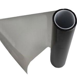 "Gloss Light Black Vinyl Film Tint 16"" x 60"" Headlight Taillight Fog Wrap Cover"