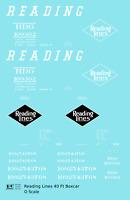 K4 O Decals Reading 40 Ft Boxcar White Diamond Logo