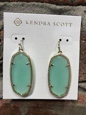 💖🌟NWT Kendra Scott Elle Earrings in Chalcedony / Gold 🌟💖