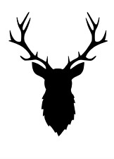 Stag Deer Rendeer head  A3 Mylar Reusable Stencil Airbrush Painting Art Craft