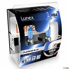 Lunex HB4 PLATINUM BLUE 12V 55W Headlight Bulbs Super Blue 9006 P22d Set 4700K
