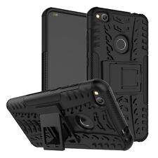 Hibrido Funda 2 piezas exterior negro para Huawei P8 LITE 2017 carcasa Cobertura