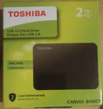 New Opened Toshiba Canvio 2TB 2.5-Inch USB 3.0 Canvio Basics External HDD