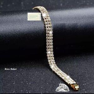 Genuine Swarovski Crystals 18k Gold Plated Iced Bracelet + Gift Box