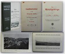 Schöne Landschaftsbilder Das Mittelgebirge 1907 Geografie Landeskunde xy
