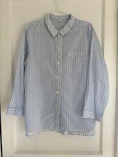 Arket Blue & White Striped Pyjama Shirt / Small / Good Condition