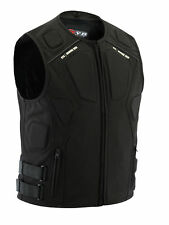 Racing Motorcycle Padded Vest Motocross Body Armour Kart Enduro Chest Protector Black L