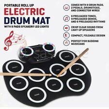 More details for electronic digital drum mat 9 pads foot padels usb sticks audio music silicone