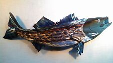 STRIPED BASS STRIPER ROCK FISH ROCKFISH FISHING CABIN LODGE DECOR METAL WALL ART