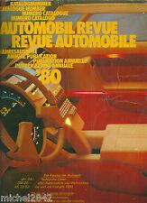 Automobil revue automobile 1980 numéro catalogue toutes les voitures du monde