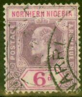 Northern Nigeria 1905 6d Dull Purple & Violet SG25 Fine Used
