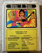 Led Zeppelin Greatest Hits 8 Track Tape