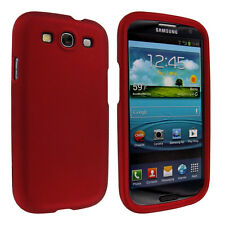 Red Snap-On Hard Case Cover for Samsung Galaxy S3