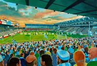Maine Road Stadium Fine Art A4 Print - Manchester City Football Club