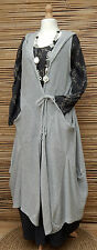 "LAGENLOOK 100%COTTON OVERSIZE HOODED CARDIGAN*GREY*BUST UP TO 54""OSFA L-XL-XXL"