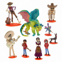 9 Pcs Disney Movie COCO Miguel Hector Rivera Action Figure Model Cake Topper