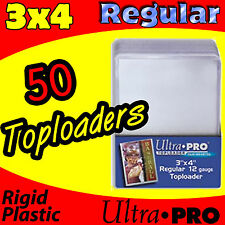 50 ULTRA PRO 3x4 SPORTS CARD TOPLOADER BASEBALL FOOTBALL HOLDERS 81222-50
