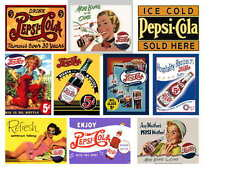 PEPSI VINTAGE AD PHOTO-FRIDGE MAGNETS Set of 10
