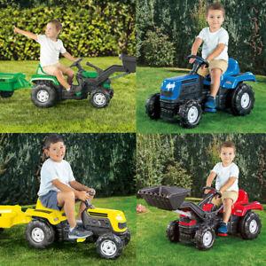 Children's Ride On Pedal Toy Tractor Excavator Kids Trailer Outdoor Garden Home
