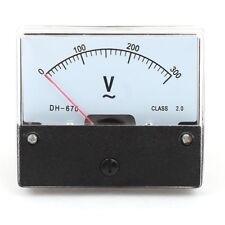 Rectangle AC 0-300V Gauge Analog Voltage Panel Meter Voltmeter DH670
