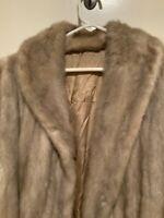 Vintage Marshall Fields & Co Beige Fur Coat Size Medium