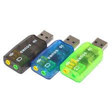 CHANNELS5.1 USB TO 3.5MM JACK AUDIO ADAPTER CONVERTER PC 3D EXTERNAL SOUND CAR