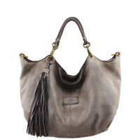 Bayside borsa shopper due manici in pelle vintage made in Italy Bs 575 Rock