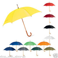 "Mens Walker Umbrella Manual Opening 42"" / 106cm Classic Wooden Crook Handle UK"