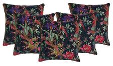 "Bird Print Handmade Kantha Cushion Cover 5 Wholesale Lot Sofa Throw Pillow 16"""
