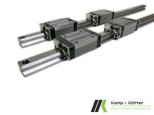 2x Linearführung / Profilführung / Trapezführung KPNR-[15/20/25]C inkl. 4 Wagen