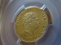 Scarce Grade G.B 1820 George III (Closed 2) Sovereign. PCGS Cert UNC Details.