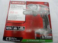 "Craftsman 11543X 1/2"" Drive C3 19.2V Li-lon Compact Hammer Drill Kit - p/n 39016"