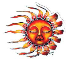 Vinyl Hippie Window Car Celestial Sun Sticker Cool Laptop Decal Women