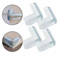 2/4Pcs Clear Rubber Furniture Corner Edge Cushion Table Guard Protector Safty