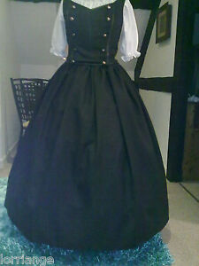 Steam Punk / Military style Top, Skirt and Blouse Medium to 4XL Black