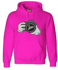 Pink camera hoodie sweatshirt men's size photography gift for photographer