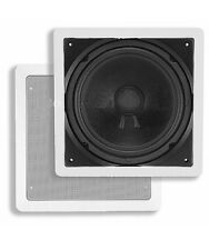 "10"" In Wall Subwoofer 200W Passive Stereo Audio Home Passive Speaker 200 Watt"