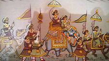 Antique Mughal INDIA Persian Original PAINTING TEMPERA MINIATURE Picture