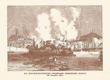 B8149 Das englisch-französische geschwader bombardiert kanton - 1920 stampa